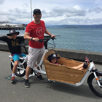 Just having fun on a cargo bike